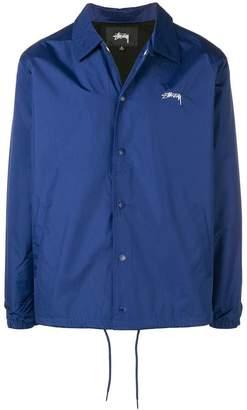 Stussy logo shirt jacket