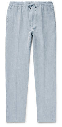 Glasgow Slim-fit Pinstriped Woven Drawstring Trousers Nn.07 uns5732zMr