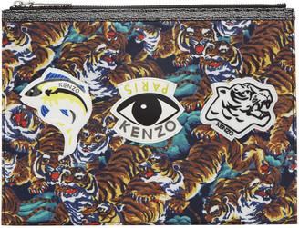 Kenzo Multicolor Multi Icons Pouch $165 thestylecure.com
