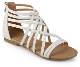 Brinley Co. Womens Wide Width Strappy Gladiator Flat Sandals