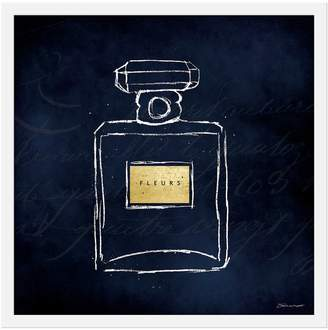 Gallery Direct Parfum on Blue II by Stephanie Marrott (Framed Print)