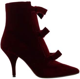 L'Autre Chose Velvet Zip Ankle Boot