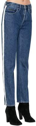 Calvin Klein Jeans High Rise Denim Jeans W/ Side Bands
