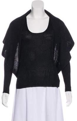 Ralph Lauren Black Label Knitted Open-Face Cardigan Set