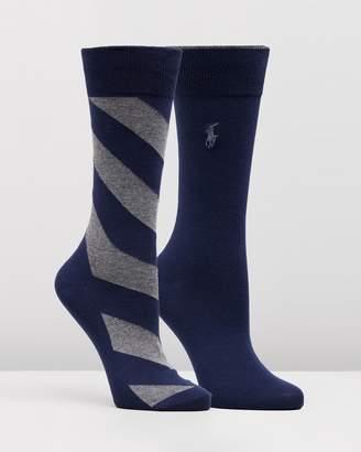 Polo Ralph Lauren 2-Pack Wide Diagonal Socks