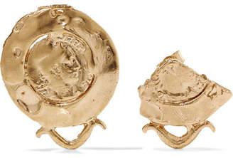 Alighieri - La Passione Di Napoli Gold-plated Earrings