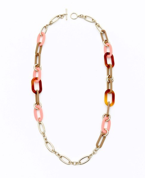 Ann Taylor Tortoiseshell and Resin Link Necklace