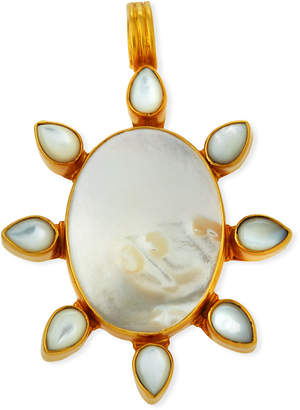 Dina Mackney Mother-of-Pearl Flower Pendant