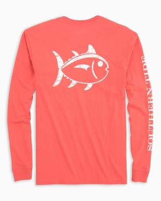 Southern Tide Distressed Outline Skipjack Long Sleeve T-shirt