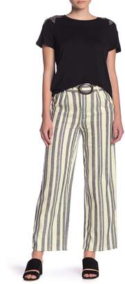 Romeo & Juliet Couture Metallic Stripe Belted Pants