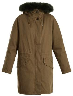 Yves Salomon ARMY Fur-lined high-neck twill parka
