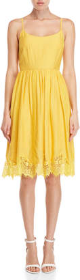 Yumi Lace Trim Cami Dress