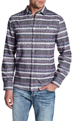 Indigo Star Rick Long Sleeve Jacquard Flannel Tailored Fit Shirt