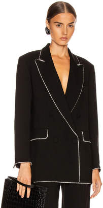MSGM Crystal Trimmed Blazer in Black | FWRD