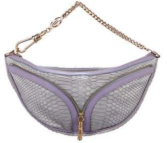 Versace Python Zip Handle Bag