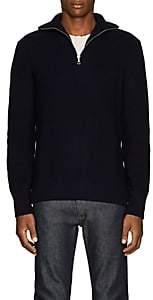 Officine Generale Men's Merino Wool Half-Zip Sweater - Navy