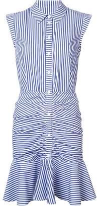 Veronica Beard striped ruched shirt dress
