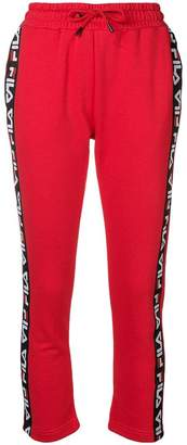 Fila logo stripe track trousers