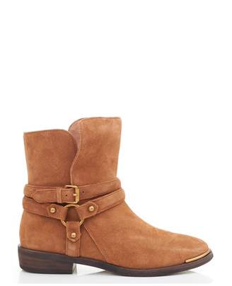 UGG Kelby Suede Ankle Strap Boots Colour: DARK CHESTNUT, Size: UK 3