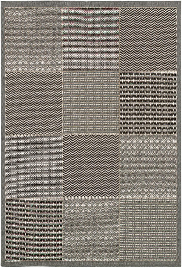 "Couristan Couristan Indoor/Outdoor Runner Rug, Monaco 2469/2213 Vistimar Blue-Grey 2'3"" x 7'10"""