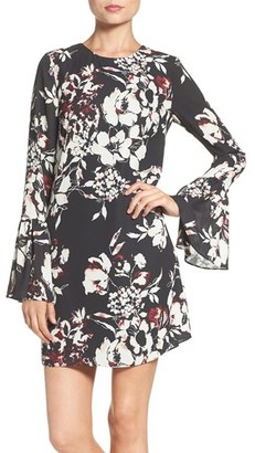Women's Ali & Jay Bell Sleeve Floral Sheath Dress $128 thestylecure.com