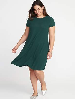 4b9b1438522 at Old Navy · Old Navy Plush Jersey-Knit Plus-Size Swing Dress