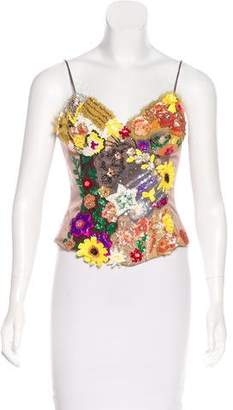 Mandalay Embellished Bustier Top