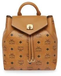 MCM Essential Visetos Small Leather Logo Backpack