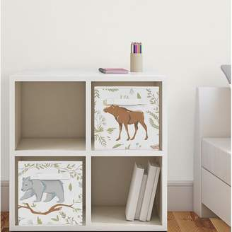 JoJo Designs Sweet Woodland Toile Fabric Storage Cube