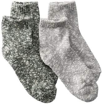 L.L. Bean L.L.Bean Women's Cotton Ragg Socks, Quarter-Crew Two-Pack