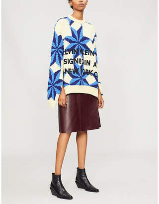 Calvin Klein Intarsia wool jumper