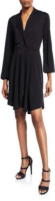 Kensie Asymmetric Wrap Dress