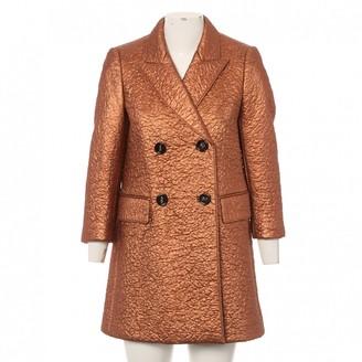 Burberry Orange Wool Coats