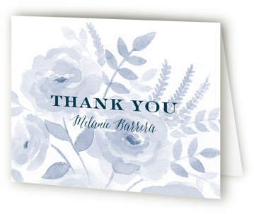 Watercolor Floral Bridal Shower Thank You Cards