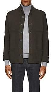 Inis Meain Men's Merino Wool Jacket-Olive
