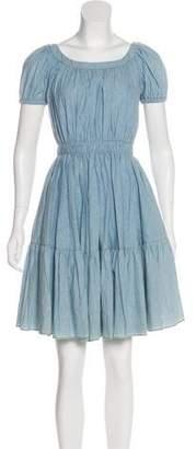 Miu Miu Chambray Mini Dress