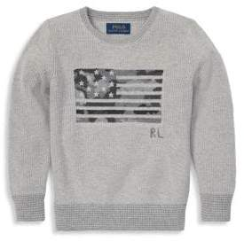 Ralph Lauren Little Boy's Camo Flag Sweater