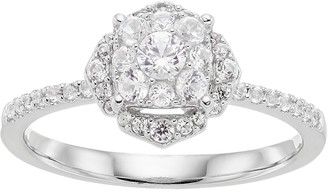 5fd7c0e42 Lovemark 10k White Gold 1/2 ct. T.W. Diamond Cluster Engagement Ring