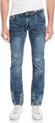 X-Ray X Ray Acid Wash Stretch Jeans