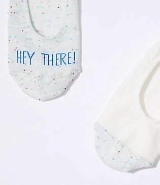 LOFT Hey There No Show Sock Set