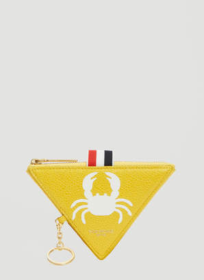 Thom Browne Crab Triangle Coin Pouch Wallet in Yellow