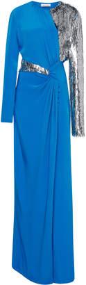 Prabal Gurung Side Twist Matchstick Paillete Gown