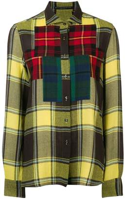 Ermanno Scervino colourblock plaid shirt