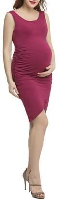 Kimi and Kai Stefanie Tulip Hem Body-Con Maternity Dress
