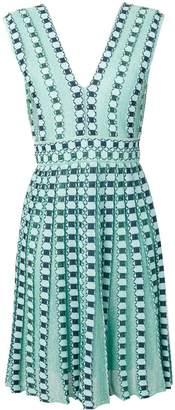 M Missoni embroidered pleated midi dress