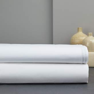 Hudson Park Collection Italian Percale Stitch Extra Deep Flat Sheet, Queen - 100% Exclusive