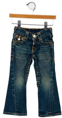 True Religion Girls' Five Pocket Flared Jeans