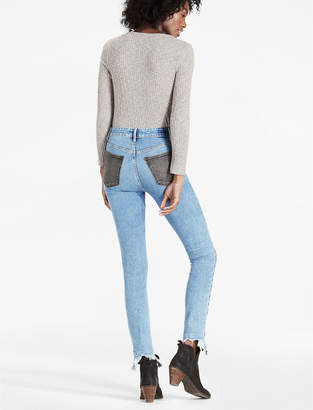 Lucky Brand BRIDGETTE HIGH RISE SKINNY JEAN WITH CONTRAST POCKETS