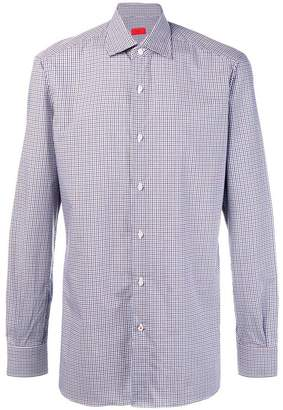 Isaia checked button-down shirt