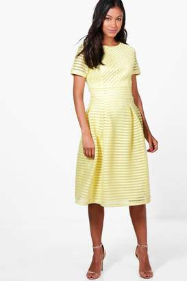 boohoo Boutique Frill Skirted Prom Midi Dress
